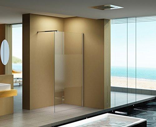 120x200 cm duschabtrennung lily frost mitte milchglas klarglas duschwand walk in dusche. Black Bedroom Furniture Sets. Home Design Ideas
