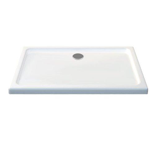 120x80 Duschtasse Duschwanne Extra flach 50 mm Rechteck Weiß