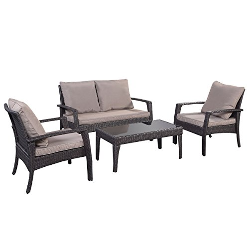 12tlg rattan set rattanm bel gartenm bel lounge polyrattan sitzgruppe garnitur garten braun. Black Bedroom Furniture Sets. Home Design Ideas