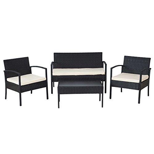 2 1 1 poly rattan garten garnitur alicante sitzgruppe. Black Bedroom Furniture Sets. Home Design Ideas