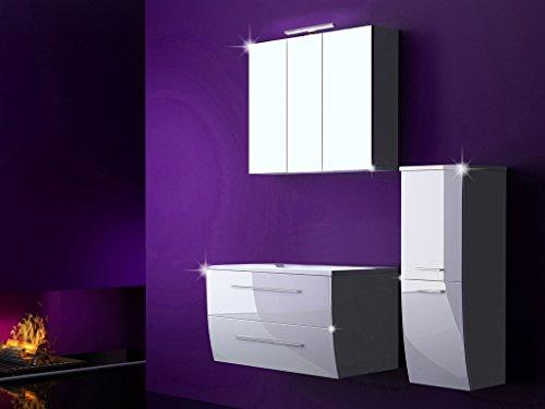 4 tlg badm bel set badezimmerm bel komplett set waschbeckenschrank 90 cm mit waschtisch. Black Bedroom Furniture Sets. Home Design Ideas