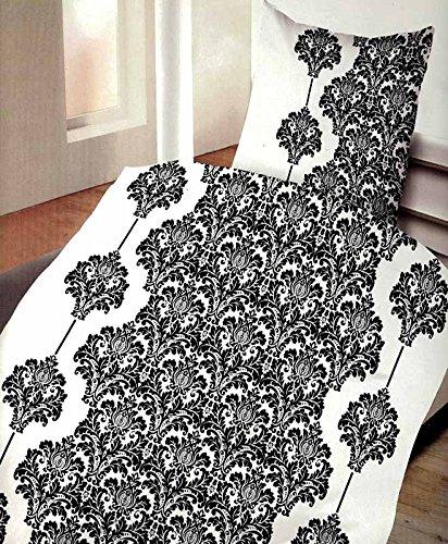 4 tlg sommer hauchd nne k hlende microfaser bettw sche tanja weiss schwarz 2x 135x200. Black Bedroom Furniture Sets. Home Design Ideas