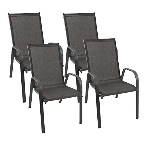 multistore 2002 4er set stapelbare gartenst hle. Black Bedroom Furniture Sets. Home Design Ideas