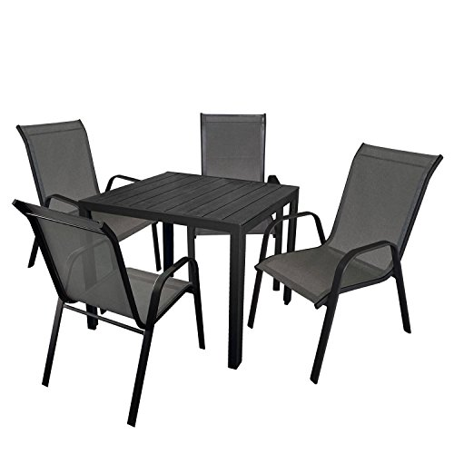 5tlg balkonm bel gartenm bel set gartengarnitur 90x90cm. Black Bedroom Furniture Sets. Home Design Ideas