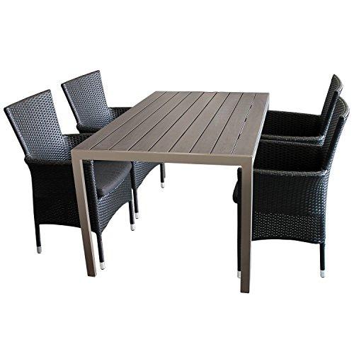 5tlg sitzgarnitur gartenm bel set aluminium polywood non. Black Bedroom Furniture Sets. Home Design Ideas