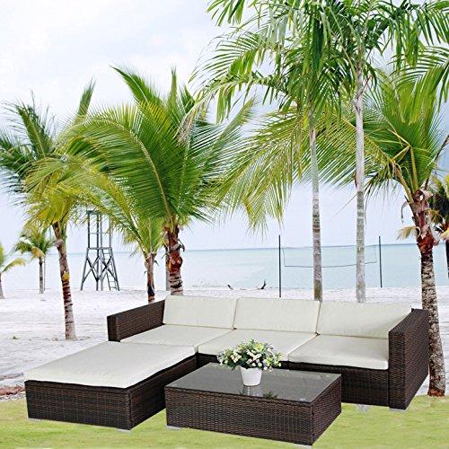 Gartenmobel Eukalyptus Winter : 6034) POLY RATTAN Lounge Braun Gartenset Sofa Garnitur Polyrattan
