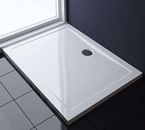 TBH: 70x120x4cm Design Duschtasse Faro2 in Weiß, Duschwanne, Acrylwanne