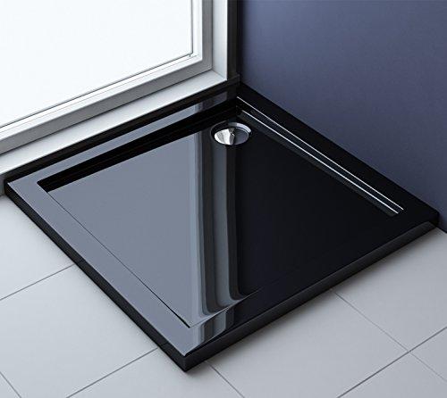 76x76x4 cm Design Duschtasse Faro1b in schwarz, Duschwanne, Acrylwanne