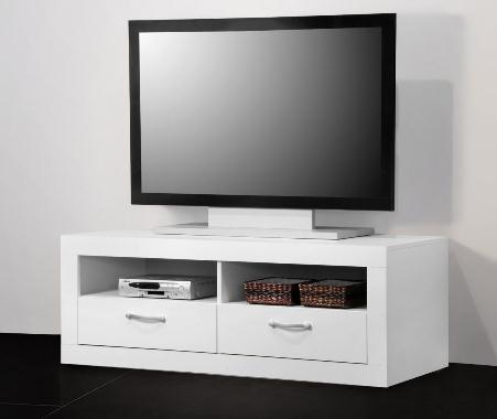 8011 - TV-Teil / Fernseh-Tisch / Lowboard, weiß