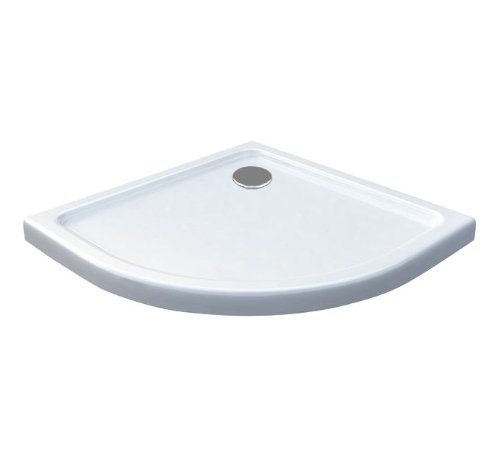 80x80 Duschtasse Duschwanne Extra flach 50 mm Viertelkreis Weiß