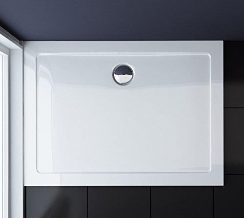 TBH: 90x140x4cm Design Duschtasse Faro2 in Weiß, Duschwanne, Acrylwanne