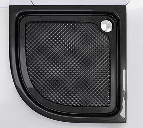 90x90x6 cm Design Duschtasse Faro3BAR in schwarz, mit Anti-Rutsch-Profil, Duschwanne, Acrylwanne