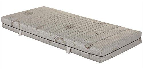 7-Zonen-Taschenfederkernmatratze OrthoMatra ABC Spring, mit waschbarem Bambus-Bezug - Grösse 90x200