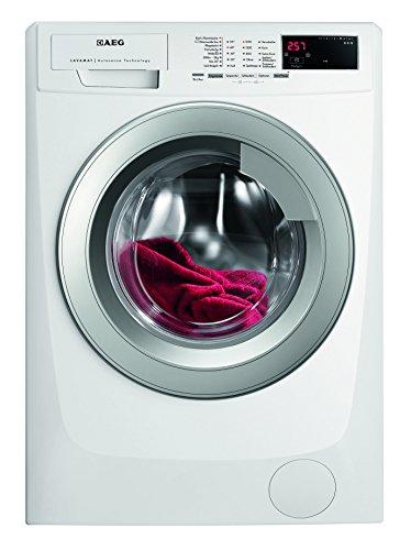 AEG LAVAMAT L69682VFL Waschmaschine FL / A+++ / 190 kWh/ Jahr / 1600 UpM / 8 kg / 9999 L/ Jahr / AquaControl / Tür silber / weiß