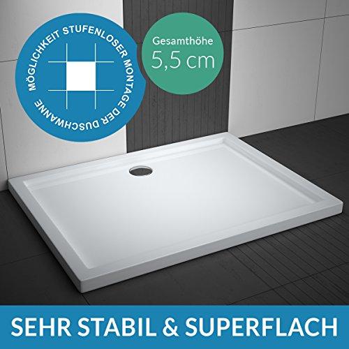 Duschwanne AQUABAD® Comfort Villa Flat 90x140cm Flach Rechteck