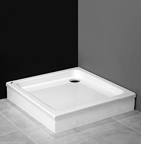 Duschwanne / Duschtasse Nordona® SIMPLEX, quadratisch 90 x 90 cm | Extra-Flache Aufbau-Höhe: 3 cm | Kompatibel mit Nordona® VersoFlat Ablauf