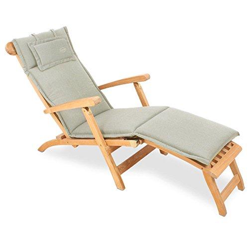 au94 auflage fr deckchair 186 x 45 cm taupe grau 0 m bel24. Black Bedroom Furniture Sets. Home Design Ideas