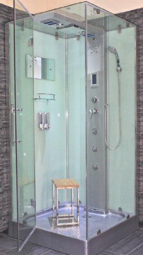 AcquaVapore DTP6038-4000L Dusche Duschtempel Komplett Duschkabine 100x100