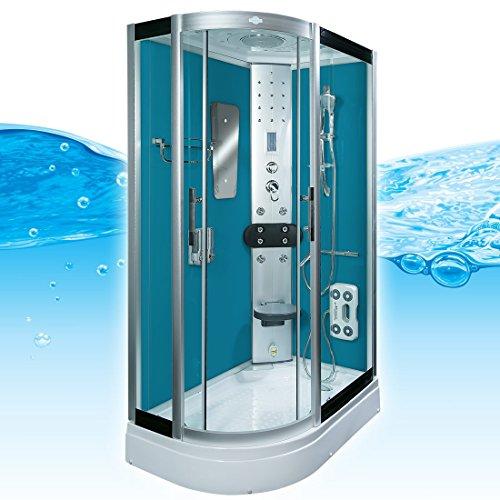 AcquaVapore DTP8060-7101L Dusche Duschtempel Komplett Duschkabine -Th. 120x80