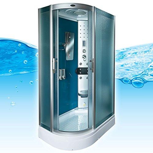 AcquaVapore DTP8060-7111L Dusche Duschtempel Komplett Duschkabine -Th. 120x80
