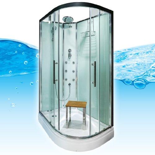 AcquaVapore QUICK16-7000R Dusche Duschtempel Komplette Duschkabine 80x120