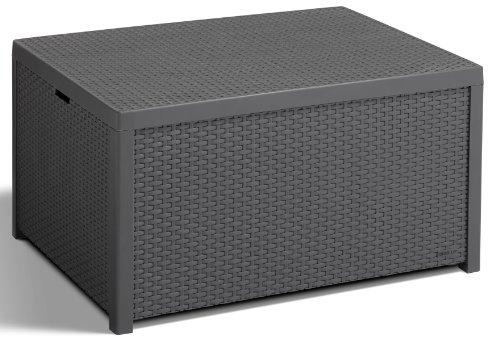 allibert tisch arica mit stauraum 79 59 cm graphit m bel24. Black Bedroom Furniture Sets. Home Design Ideas