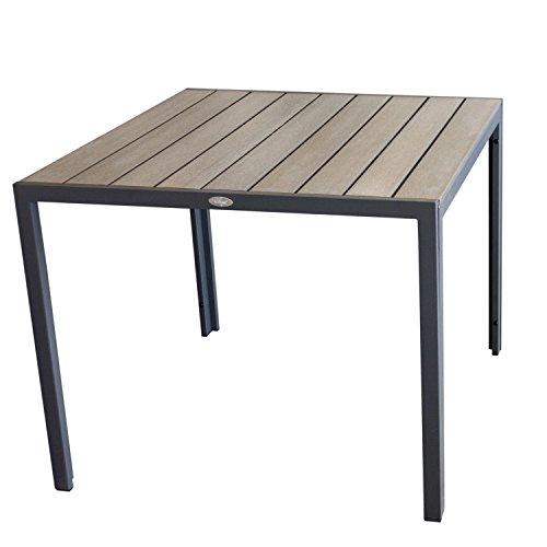 Aluminium-Gartentisch-90x90cm-Esszimmertisch-Esstisch