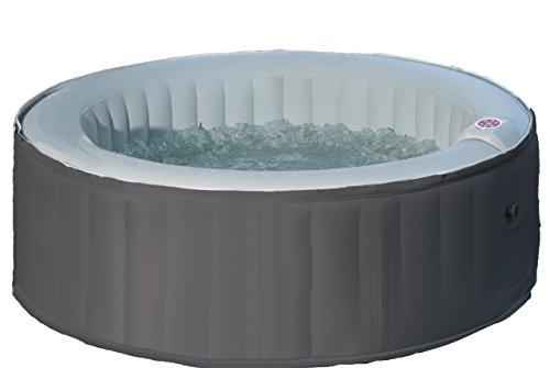 Aqua Spa 81006 Whirlpool rund 4 Personen, hellgrau