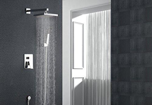 Auralum® 8 Zoll Duschkopf Regendusche Regenduschkopf Duschbrause Regenbrause Komplettsysteme Wasserfall Set