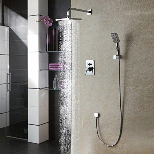 auralum duschsystem duschkopf set mit regendusche duscharmatur handbrause f r bad m bel24. Black Bedroom Furniture Sets. Home Design Ideas