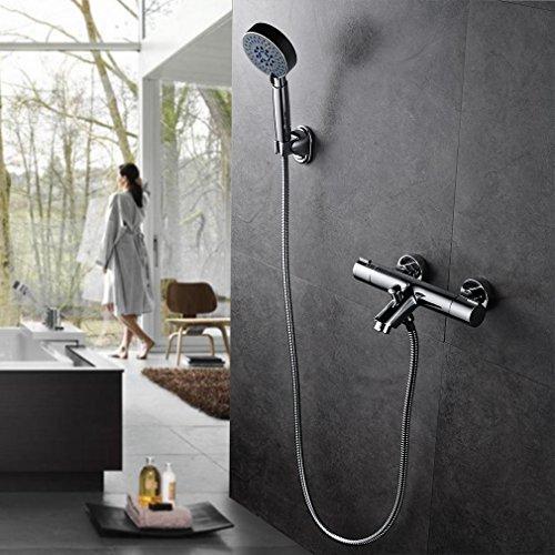 auralum kalsischdesign duschthermostat brausethermostat handbrauseset duschsystem dusche inkl. Black Bedroom Furniture Sets. Home Design Ideas