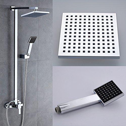 BONADE Klasischdesign Duschkopf Regenkopf Dusch Set Überkopf Brauseset Inkl. Wandhalterung & Handbrause & Regenbrause