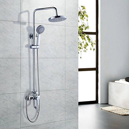 auralum luxus duschset duschpaneel mit handbrause regendusche aus chrom m bel24. Black Bedroom Furniture Sets. Home Design Ideas