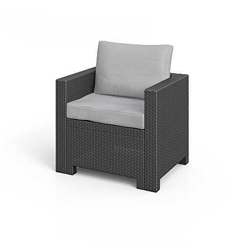 bica colorado lounge sessel poly rattan gartenm bel rattanoptik inkl sitzkissen anthrazit. Black Bedroom Furniture Sets. Home Design Ideas