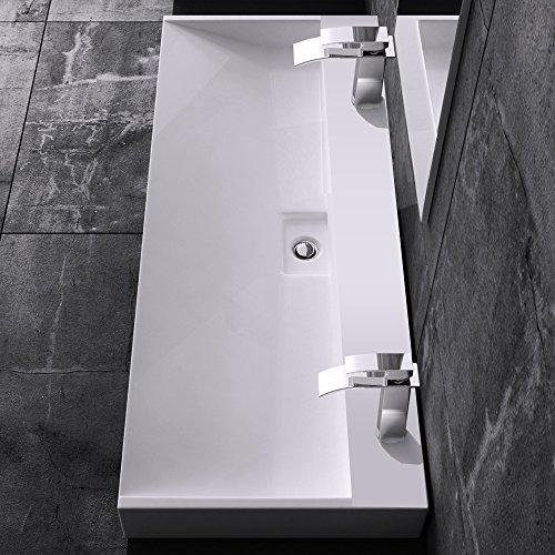 bth 120x46x11 cm design waschbecken colossum19 2 loch aus gussmarmor waschtisch waschplatz. Black Bedroom Furniture Sets. Home Design Ideas