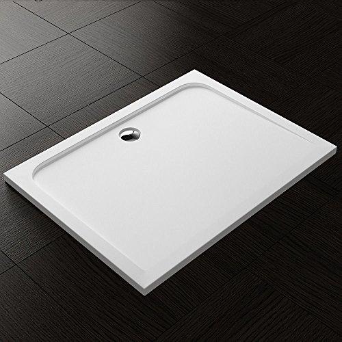 BTH: 90x120x4 cm Design Duschtasse Novas04W in Weiß, Duschwanne, Acrylwanne