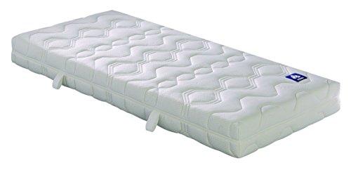 Badenia 03888350150 Bettcomfort Irisette 7-Zonen Matratze Irisette Lotus Tonnentaschenfederkern, H2, 160 x 200 cm, weiß