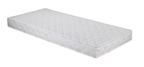 Badenia 3887860159 Bettcomfort Roll-Komfortmatratze, Trendline BT 100, H2, 90x200 cm, weiß
