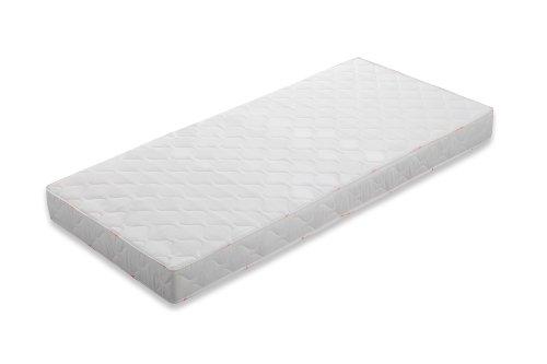 Badenia 03890140143 Bettcomfort 7-Zonen-Tonnentaschenfederkern-Matratze BT 120, Härtegrad H3, 140 x 200 cm,Weiß