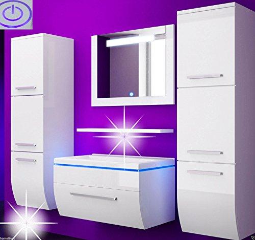 Badmbelset badezimmermbel komplett set waschbeckenschrank for Spiegel adresse