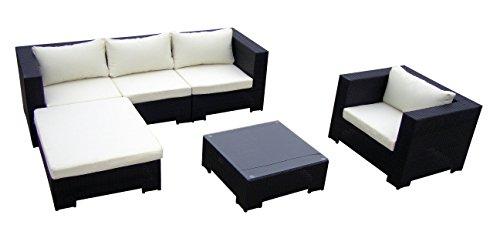 baidani sitzgruppe daydreamer rattan 4 teilig schwarz m bel24. Black Bedroom Furniture Sets. Home Design Ideas