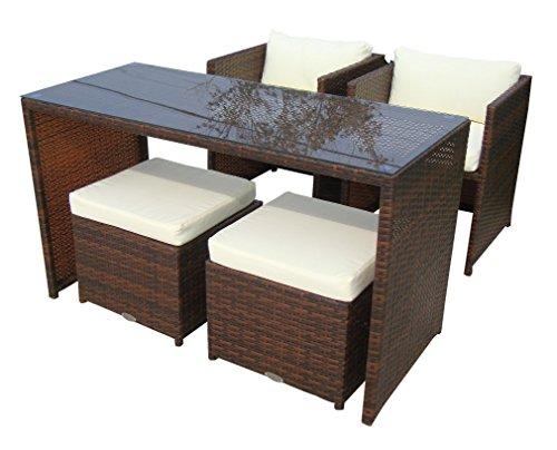 baidani 10d0001200002 sitzgruppe vision rattan 5 teilig braun 0 m bel24. Black Bedroom Furniture Sets. Home Design Ideas