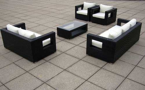 baidani gartenm bel sets designer lounge garnitur seaside 3 er sofa 2 er sofa. Black Bedroom Furniture Sets. Home Design Ideas