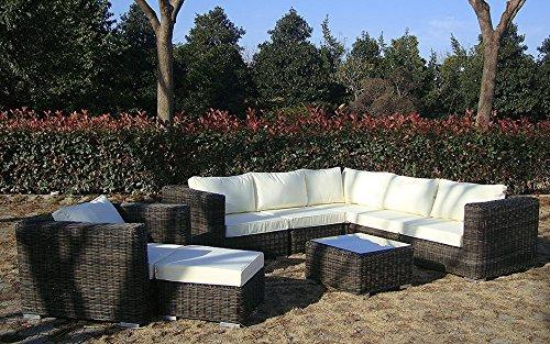 Baidani rattan garten lounge garnitur dreamline 0 0 m bel24 for Garten lounge garnitur