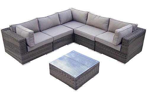 Baidani Rattan Lounge-Garnitur Vacation aus der Collection Ronde