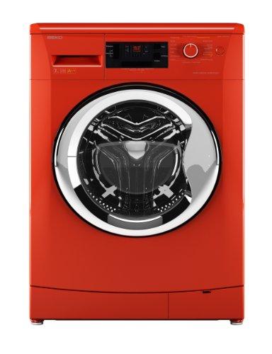 Beko WMB 71443 PTENC Waschmaschine Frontlader/A+++ / 171 kWh/Jahr / 1400 UpM / 7 kg/Orange / Großes Display/Pet Hair Removal