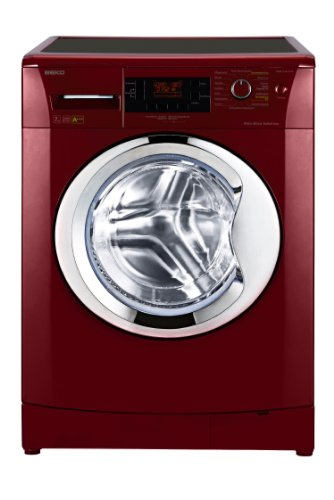 Beko WMB 71443 PTER Waschmaschine Frontlader/A+++/ 1400 UpM / 171 kWh/Jahr / 7 kg/Rot / Pet Hair Removal/Großes Display