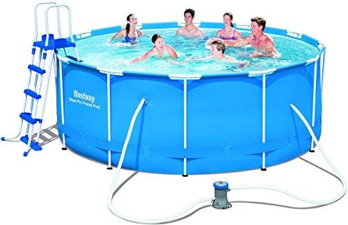 Bestway frame pool steel pro set 366x122 cm m bel24 for Garten pool 366x122