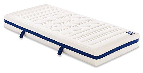 Irisette Badenia 03 888 400 159 Bettcomfort 7-Zonen Vitaflex Flextube Kaltschaummatratze, 90 x 200 cm, weiß