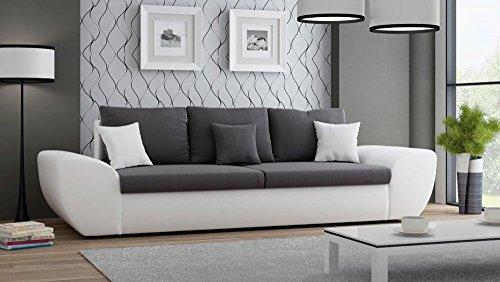 Big Sofa In Braun Mit Geteilter Sitz-/Liegefläche